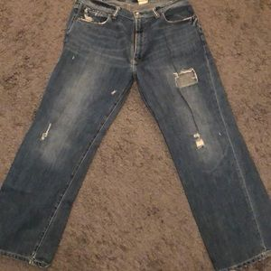 Abercrombie and Fitch destroyed baggy jeans